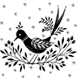 Ornamental bird sitting on a branch vector image vector image