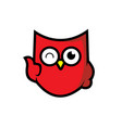 owl icon shield integrity vector image