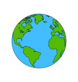 planet earth colored the coloring vector image vector image