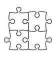 puzzle icon silhouette on white stock vector image vector image
