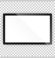 realistic tv screen icon in flat style monitor vector image vector image