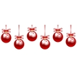 red baubles vector image vector image
