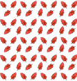 red feathers wallpaper on white background vector image vector image