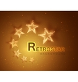 Retro stars abstract background for your design vector image vector image