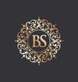 royal luxury heraldic crest logo vector image vector image