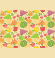 seamless background of fruit vector image vector image