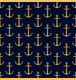 seamless pattern with golden anchors vector image