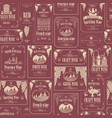 seamless pattern with various wine labels vector image vector image