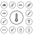 set of 12 editable equipment outline icons vector image vector image