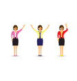 set of three business women vector image vector image