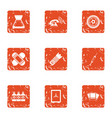 show the frame icons set grunge style vector image vector image