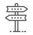 signpost line icon development and business vector image vector image