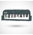 sketch of a keyboard vector image vector image
