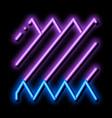 sound wave neon glow icon vector image vector image
