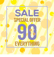 Special Offer 90 Percent On Yellow Bubbles vector image vector image