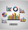 statistics data business image vector image