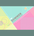 summer with retro style texture pastel color vector image vector image