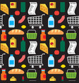 supermarket products seamless pattern vector image vector image
