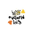 sweet autumn days badge isolated design label vector image
