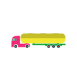 Tank truck Icon vector image vector image