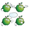 Thinking apple set vector image vector image