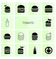 tomato icons vector image vector image