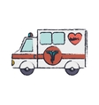 truck ambulance blur with medical symbol vector image