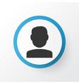 user icon symbol premium quality isolated quest vector image