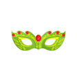 venetian green color mask with gold red gem vector image vector image