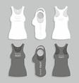 Women t-shirt vector image vector image