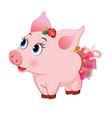 cute loving piglet vector image