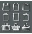store bag set vector image
