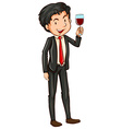 Man and cocktail vector image