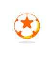 star ball logo vector image