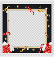 abstract golden glossy frame background with vector image vector image
