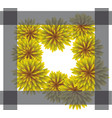 abstract yellow floral greeting card - holiday vector image vector image