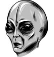 alien face in white background vector image vector image