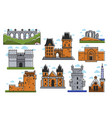 ancient european castles and towers isolated vector image