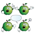 Angry apple set vector image vector image