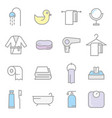 bathing icon set vector image