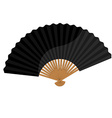 Black folding fan vector image vector image