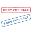 body for sale textile stamps vector image vector image