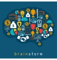 Brainstorm business and finance concept flat vector image vector image