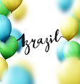 Brazil inscription calligraphy handmade greeting vector image vector image