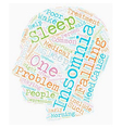 Can t Get Enough on Insomnia text background vector image vector image