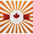 Canada Day textile red and white greeting Badge vector image
