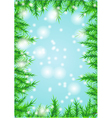 christmas background on blue vector image vector image