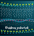 christmas string lights set vector image vector image