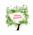christmas tree for your design vector image vector image