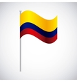 colombian flag colorful icon vector image vector image